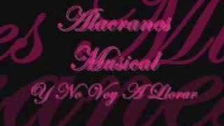 Y No Voy A Llorar - Alacranes Musical