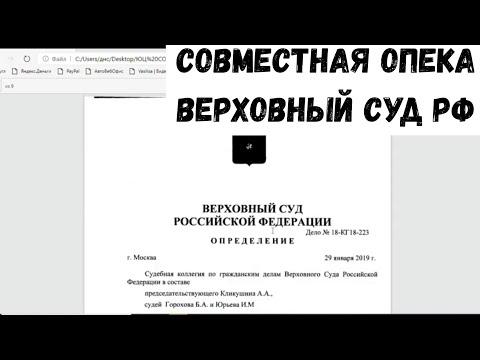 Совместная опека/Верховный суд/Судебная практика в России/Ребенок на два дома