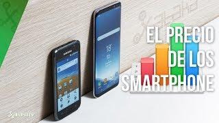 ¿A qué ritmo baja el precio de los smartphone?