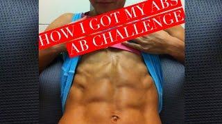 HOW I GOT MY ABS/ AB CHALLENGE | Vlogmas 2