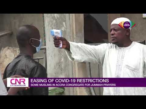 Muslims in Accra congregate for Jummah prayers after easing of COVID-19 restrictions