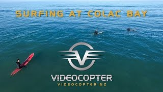Surfing at Colac Bay - Southland - New Zealand