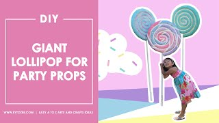 How To Make A Giant Lollipop | Candyland Theme Party | Props For Candy Land Theme Party