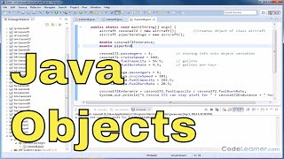 Java Programming Tutorial - 06 - Calculations with Instance Variables of an Object