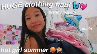 HUGE Summer Try-on Clothing Haul *brandy Melville, Shein, Zaful + More!