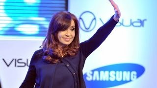 preview picture of video '30 de JUL. Inauguración empresa de lavarropas Samsung-Visuar en Cañuelas. Cristina Fernández'