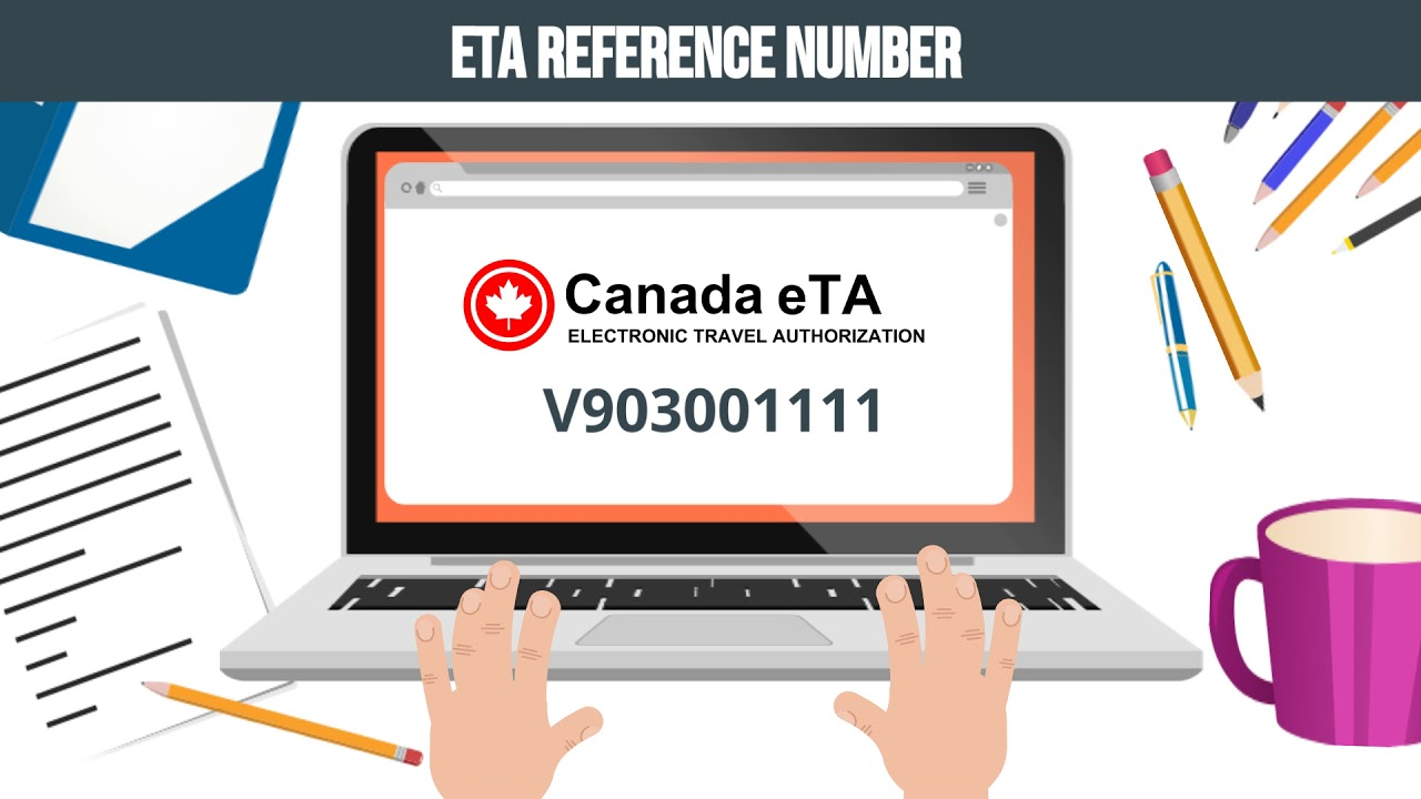 What is the difference between an eTA reference and application number?