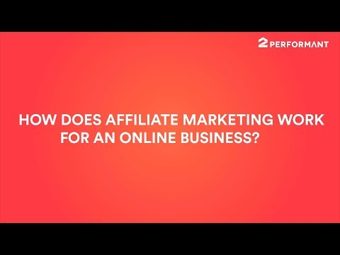 How does affiliate marketing work for an online business?