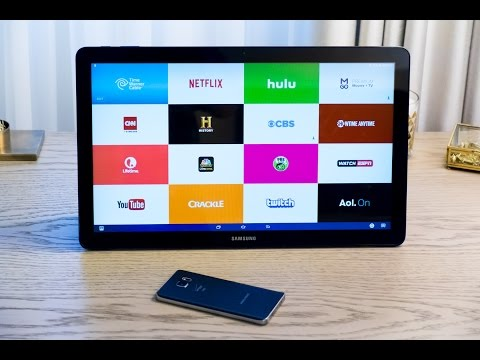 Samsung's absurd 18-inch tablet, the Galaxy View