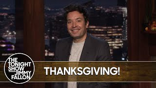 Jimmy Fallon's Thoughts on 2020's Untraditional Thanksgiving | The Tonight Show