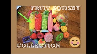 FRUIT SQUISHY COLLECTION | 4 Puni Maru Bananas!!!!!
