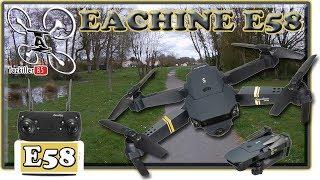 Eachine E58 Drone Wifi Pliable Review Test Démo / Tirage final, 2 gagnants !