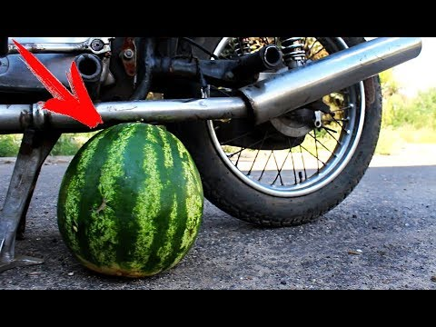 EXPERIMENT: MOTORCYCLE VS WATERMELON
