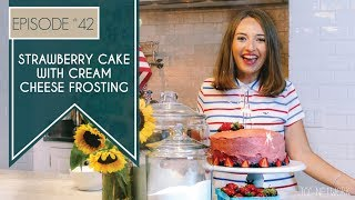 strawberry cake with cream cheese frosting betty crocker