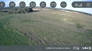 SJRC F11, indo a 578 metros de distância com sinal de wi-fi( fpv)