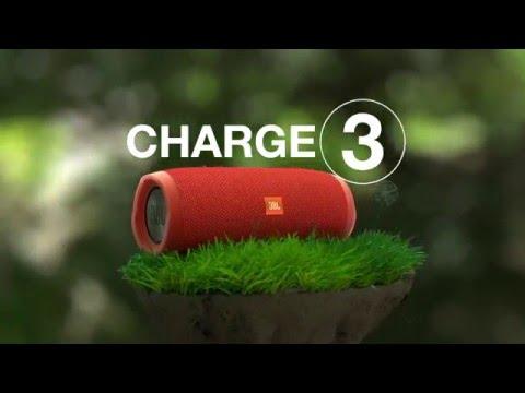 JBL Charge 3 Black Bezdrátový přenosný reproduktor
