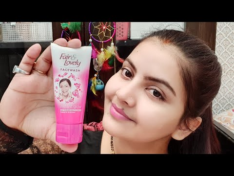 Fair lovely face wash review & demo | instant fairness ? glow ? how it works ? RARA |