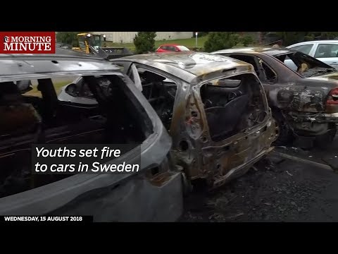 Youths set fire to cars in Sweden
