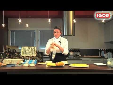 Canelones con queso Gorgonzola fundido
