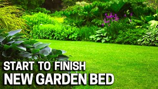 Installing A NEW Garden Bed On My Lawn - Shovel Only