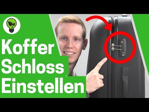 Koffer Zahlenschloss einstellen ✅ ULTIMATIVE ANLEITUNG: Kofferschloss & TSA Schloss Code ändern!!!