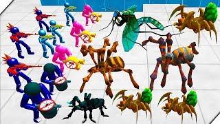 НАСЕКОМЫЕ УБИЙЦЫ - Stickman Spider Battle Simulator # 3 Батл Симулятор Пауки и Стикмен