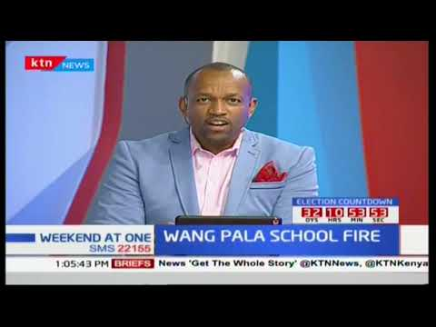 Wang Pala School in Homa Bay caught fire destroying property