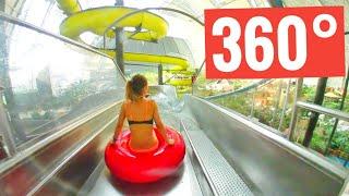 Water slide Best 360 VR video at Water Park Tropical Island