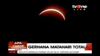 Gerhana Matahari Total LIVE 9 Maret 2016  PALU  INDONESIA  TV One  TOTAL SOLAR ECLIPSE