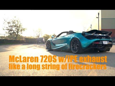Mclaren 720S Lit like Firecrackers│w/ iPE exhaust