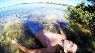 Real Life Merman footage at mangroves beach HD