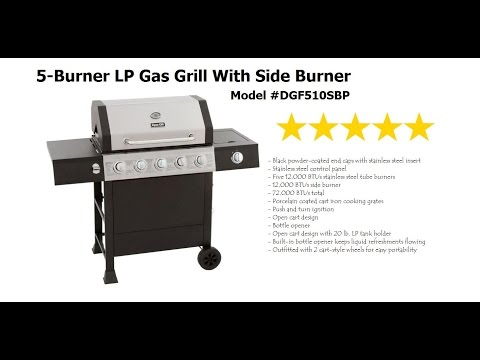 Dyna-Glo 5 Burner LP Gas Grill With Side Burner