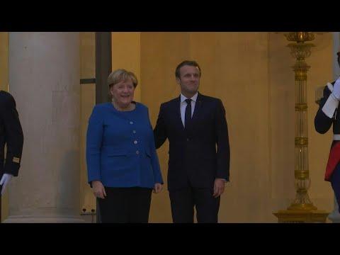 Emmanuel Macron reçoit Angela Merkel à l'Elysée | AFP Images Emmanuel Macron reçoit Angela Merkel à l'Elysée | AFP Images