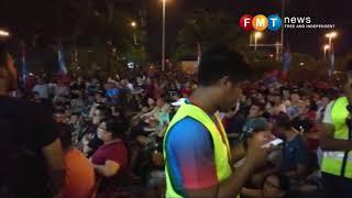 The Crowd At A PH Ceramah Featuring Dr Mahathir Mohamad In Bukit Katil, Melaka