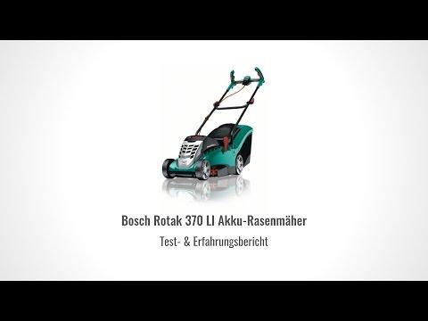 Testbericht Bosch Rotak 370 LI Akku Rasenmäher im Test