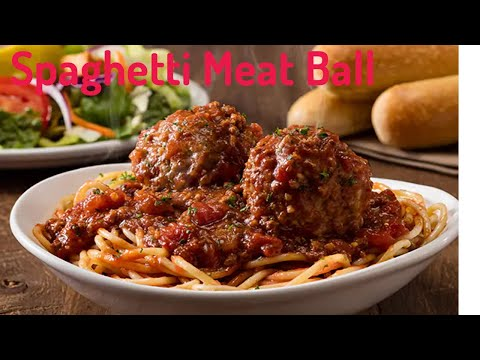 Spaghetti With Meat Ball/Italian Yummy Food/Cooking Recipe : Chef Sokphal
