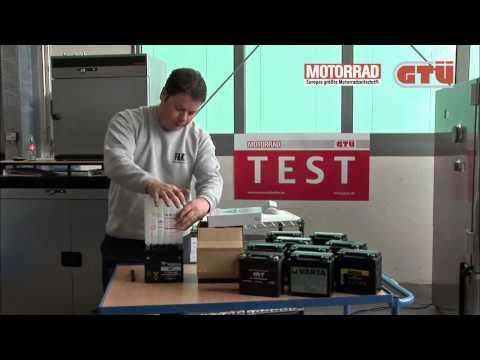 Motorradbatterietest
