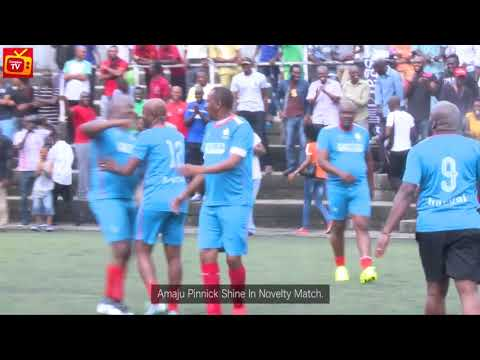 NFF Chairman, Amaju Pinnick, Others shine in novelty football match(Highlights)