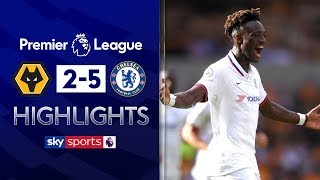 SUBSCRIBE ► http://bit.ly/SSFootballSub Highlights from the Premier League as Tammy Abraham scored a wonderful hat-trick for Chelsea to beat Wolves 5-2 with Fikayo Tomori also netting his first senior goal for the club. Watch Premier League LIVE on Sky Sports here ► http://bit.ly/WatchSkyPL ►TWITTER: https://twitter.com/skysportsfootball ►FACEBOOK: http://www.facebook.com/skysports ►WEBSITE: http://www.skysports.com/football  MORE FROM SKY SPORTS ON YOUTUBE: ►SKY SPORTS FOOTBALL: http://bit.ly/SSFootballSub ►SKY SPORTS BOXING: http://bit.ly/SSBoxingSub ►SOCCER AM: http://bit.ly/SoccerAMSub ►SKY SPORTS F1: http://bit.ly/SubscribeSkyF1