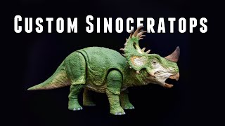 How to Custom Sculpt a Mattel Sinoceratops Jurassic World Toy