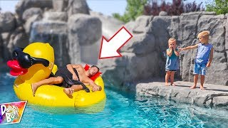 Dad Wakes Up In Swimming Pool! (WHO DID IT?)
