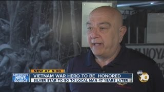Vietnam War veteran receiving Silver Star 47 years later
