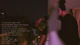 rain sounds over sad kpop songs - Самые лучшие видео