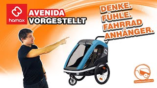HAMAX Avenida | Günstiger Kinderfahrradanhänger vorgestellt.