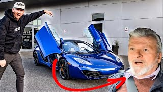 DAD REACTS TO FIRST RIDE IN MY NEW SUPERCAR!