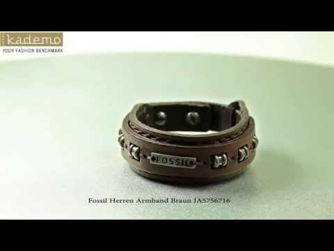 Fossil Herren Armband Braun JA5756716
