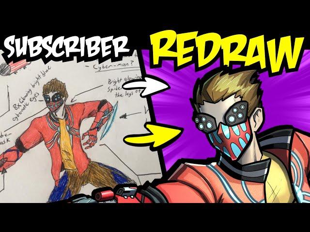 Redrawing Subscribers 'Genre Swapped' Characters (Cyberpunk Spider-man, Horror Batman etc.)