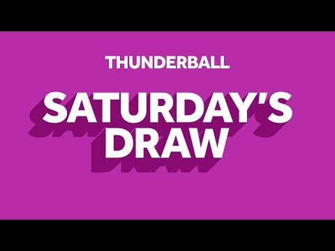 The National Lottery 'Thunderball' draw results from Saturday 18th January 2020