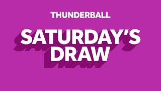 The National Lottery 'Thunderball' draw results from Saturday 18th January 2020 Advert
