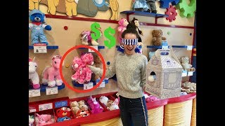 Buying EVERYTHING I Touch! BUILD A BEAR CHALLENGE!